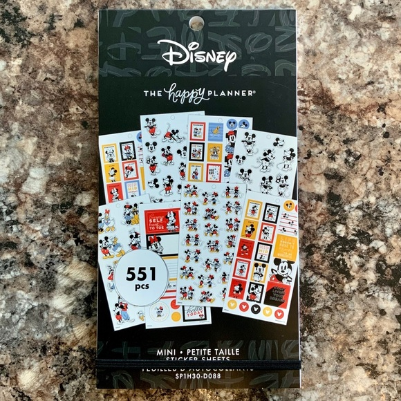 The Happy Planner Disney Mickey /& Friends Magic Plans Sticker Book Of 582 Mambi